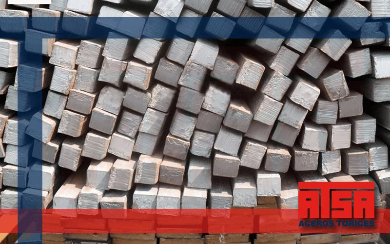 Perfil cuadrado macizo de acero, el precio más bajo en Aceros Torices.