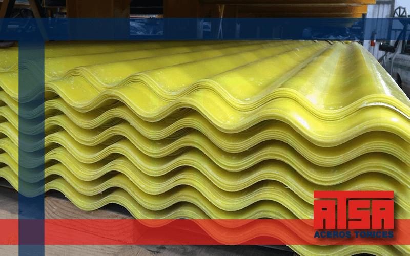 Polylit lámina translúcida para techos.