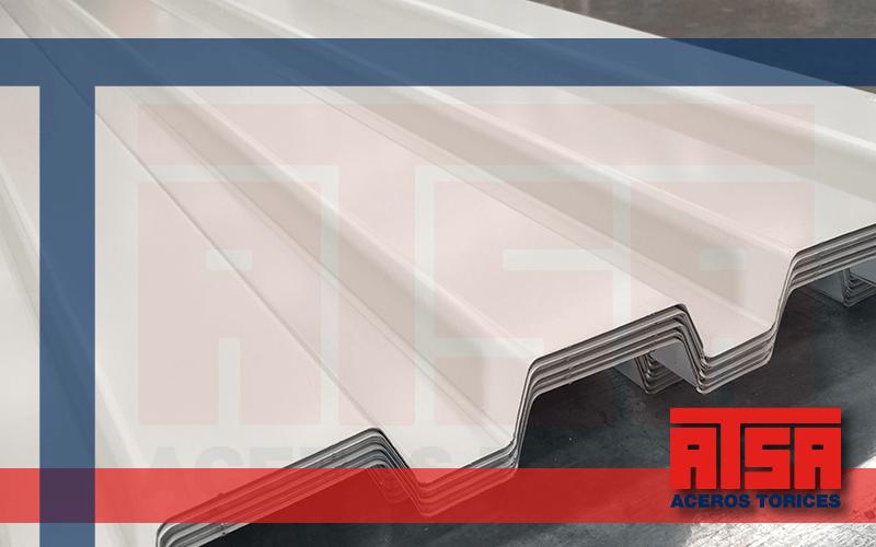 Láminas de acero acabado pintro; perfil RD 91.5.