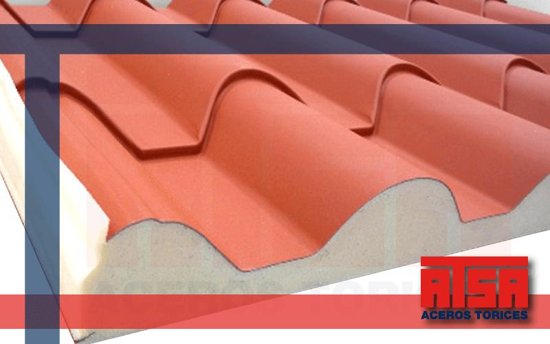 Panel aislante Metcoppo para techos con estética tipo teja.