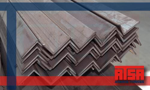 Perfiles comerciales de acero; venta de ángulos al mejor precio.