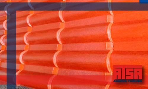 Lamina tipo teja de 6 canales; venta al mejor precio en Aceros Torices.